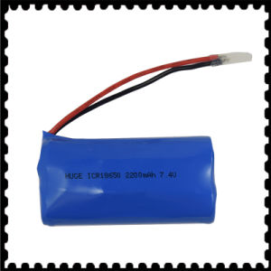 Icr18650 7.4V 2200mAh Li-ion Battery Pack pictures & photos