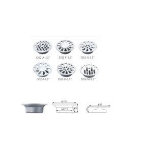Stainless Steel Bathroom Hardware Floor Drain (D02-C-3.5) pictures & photos