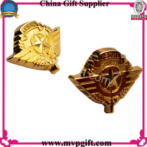 Metal Police Badge with Gold Color pictures & photos
