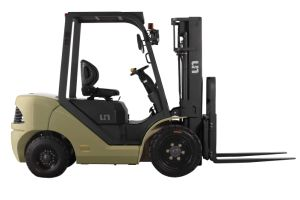 Un 3.5t Diesel Forklift with Yanmar Engine and Triplex 7.0m Mast (CPCD35) pictures & photos