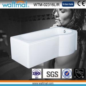 P Shape Acrylic Shower Bath Bathtub with Skirt (WTM-02316L/R) pictures & photos