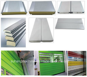 New Design Cassette PU Shutter Door Sandwich Panel Line pictures & photos