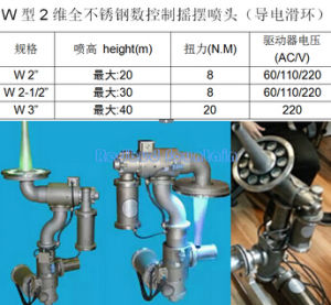 Stainless Steel Two Direction Digital Swing Fountain Nozzle-W pictures & photos