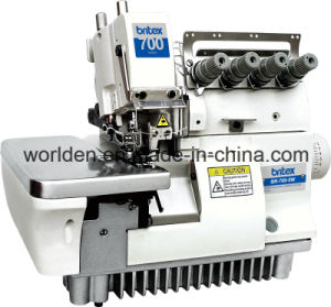 BR-700-5W Super High Speed Fivve Thread Wide Needle Gage Overlock Sewing Machine pictures & photos