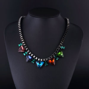 Colorful Crystal Classical Style Gun Plating Necklace pictures & photos