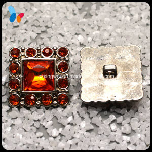 Square Crystal Rhinestone Plastic Shank Button pictures & photos