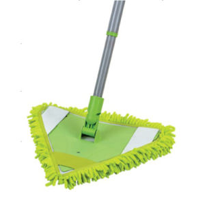 Telescopic Handle Chenille Microfiber Feather Triangle Corner Mop, Flat Mop (1018) pictures & photos