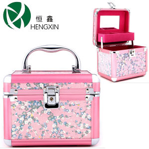 Lady Jewelry Box with Makeup Mirror pictures & photos