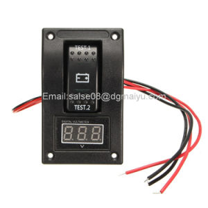 Marine Carling Boat 20A 12V RV Voltmeter LED Dual Battery Test Panel Rocker Switch on-off-on pictures & photos