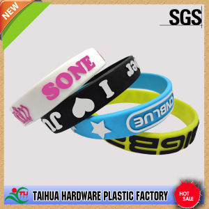 Wholesale Costom Silicone Bracelets with Embossed Print (TH-002) pictures & photos