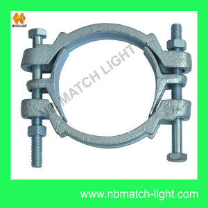 Round Clamps Types Carbon Steel -Zn Plated Double Bolt Clamp pictures & photos