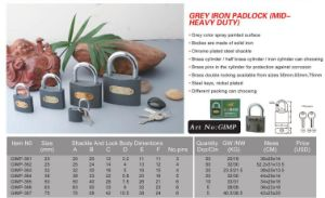 Professional Heavy Duty Iron Padlock pictures & photos