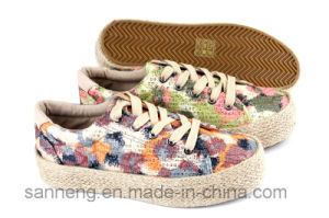2016 Lady Fashion Leisure Shoes with Hemp Rope Foxing (SNC-280028) pictures & photos