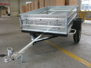 Light Duty Europe Style Galvanized Sheet Box Trailer