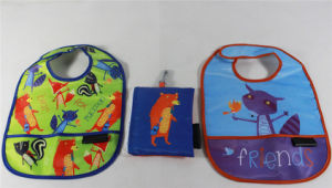 Baby Diaper Logo Promotional Gift Cotton Baby Feeding Bib (MECO272) pictures & photos