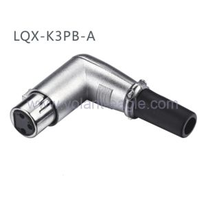 Competitive Audio Connectors 3-Pin Angle Female XLR Connector with RoHS pictures & photos