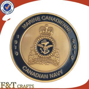 100 Years Anniversary Memento Gifts Soft Enamel Antique Gold Marine Corps Metal Souvenir Coin pictures & photos