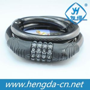Yh1221 Bike Bicycle Cable Lock with Powerful Systolic Function pictures & photos