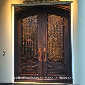Factory Direct Exterior Wrought Iron Entry Doors (UID-D041) pictures & photos