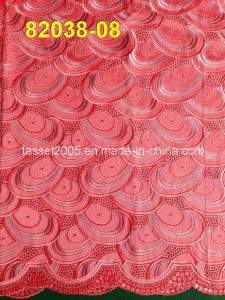 Hot Sell African Swiss Voile Fabric with Stones (82038) pictures & photos