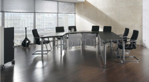Modern Quarter Round Curved Wooden Movable Office Conference Table (SZ-MT118-1) pictures & photos