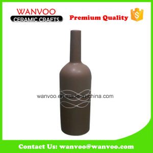 China Cheap Bottle Sharp Ceramic Flask Vase pictures & photos