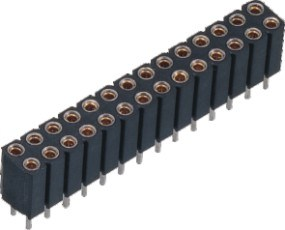 2.54mm Double Row Machined Female Header pictures & photos