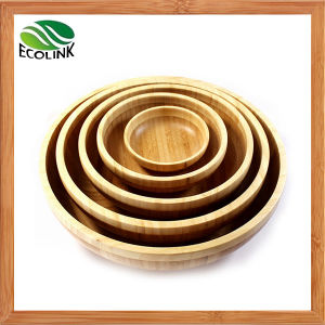 Natural Bamboo Salad Bowl Set pictures & photos
