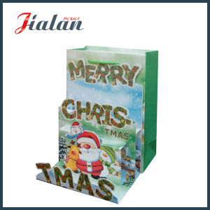 Customize with 3D Merry Christmas Shopping Carrier Gift Paper Bag pictures & photos
