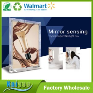 Single Side Mirror Sensing Acrylic Crystal Super Thin Light Box pictures & photos