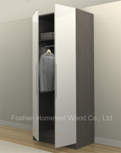 Modern White UV High Gloss Bedroom Wardrobe (HF-H01) pictures & photos