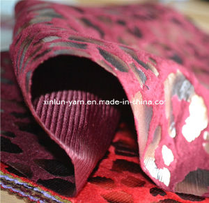 Flock Printing Chiffon/Flocking Georgette Fabric/Flocking Print Dress Fabric pictures & photos