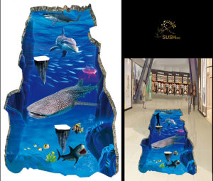 Shark Whale Dolphin 3D Floor Sticker pictures & photos