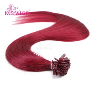 Nail Hair Extension Natural Brazilian Remy Human Hair pictures & photos