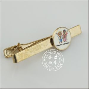 Gold Plated Metal Tie Clip with Badge (GZHY-LDJ-007) pictures & photos