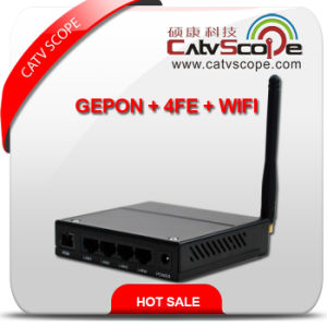 Professional Supplier Black High Performance WiFi & 4fe Triple Play Gepon Ont/ONU pictures & photos