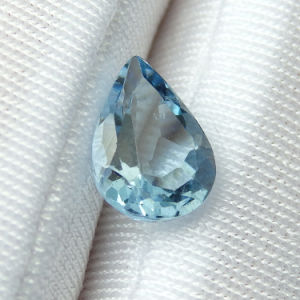 Top Quality Pear Shape Clear Blue Transparent Natural Aquamarine Stone pictures & photos