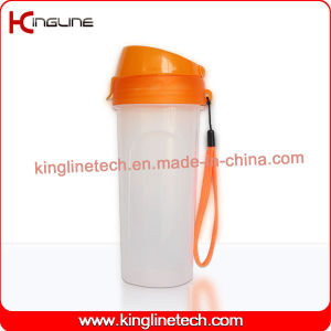 500ml Plastic Protein Shaker Bottle with Filter and Lanyard (KL-7039) pictures & photos