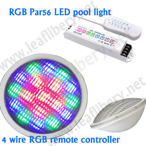 Low Voltage 4 Wire Remote Control DC12V LED PAR56 Pool Light, LED Light Bulb