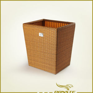 Light Brown Rattan Towel Basket