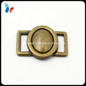 Matte Brass Plating Metal Alloy Round Buckle for Bra pictures & photos