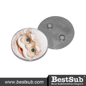 Bestsub Promotional Round Metal Sublimation Fridge Magnet (MP01) pictures & photos