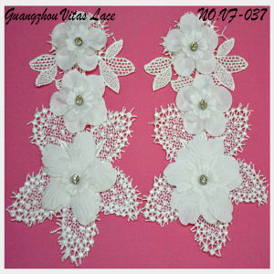 Beading and Corded Lace Motif with Any Color for Lady Garments From Factory Vf-037
