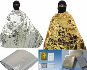 Non-Stretch Polyester Reflecting Keep Body Warm Waterproof Emergency Blanket pictures & photos