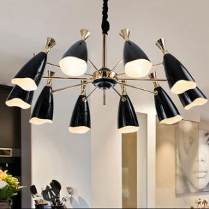 Modern Black Living Room Pendant Lamp Chandelier Lighting in 10-Lights pictures & photos