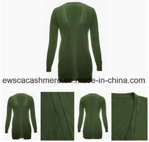 Fashion Design Women Long Cashmere Cardigan Sweater