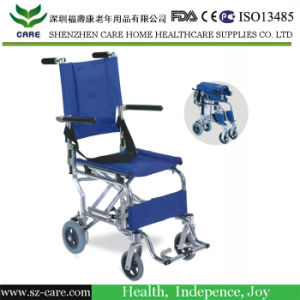 Foldable Lightweight Mini Size Transit Ultralight Aluminum Wheelchair pictures & photos