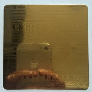 AISI201/304 Etched Gold Colour Stainless Steel Sheet with 8k