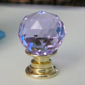 Purple Crystal Knob for Jewelry Storage and Gift Box pictures & photos