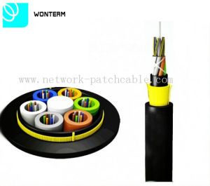 ADSS Fiber Optic Cable All-Dielelectric Self-Support Cable with Aramid Yarn pictures & photos